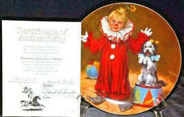 """""""Tommy the Clown"""" by John McClelland Commemorative Plate Recco  AA20-CP2289 Vint"""