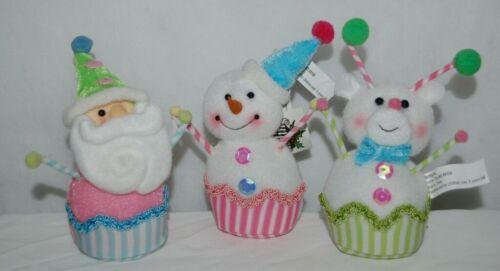 Sterling 18911068 Santa Snowman Reindeer Clown Christmas Ornament Set