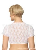 Beer Festival Women Lace Shirt Bavarian Clothing White Shirt Blouse blac... - $32.25