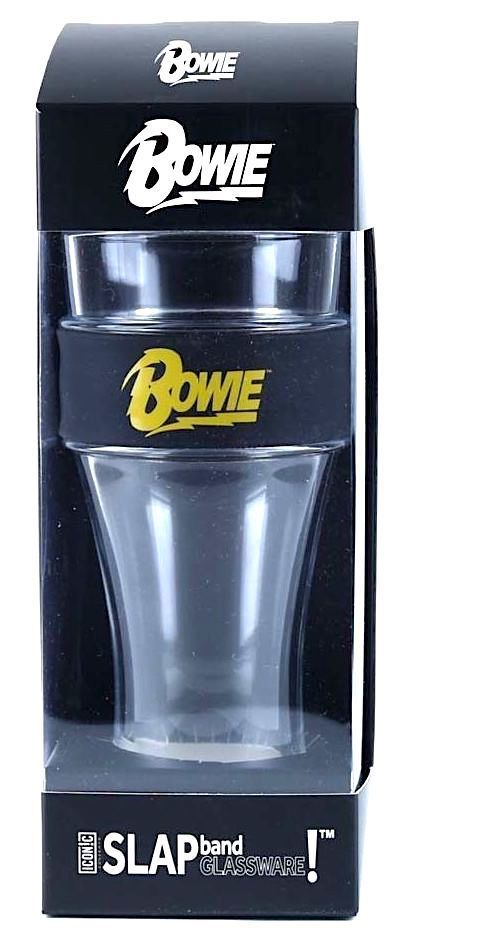 David Bowie Yellow  Logo Heavy Duty Slap Band & Beer Pint Glass
