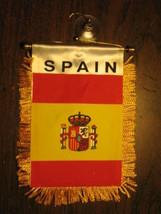 """SPAIN FLAG MINI BANNER 4""""x6"""" CAR WINDOW MIRROR SPANISH - $3.95"""