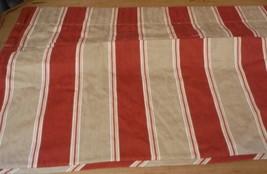 Waverly Valance Bella Tuscany Capulet Striped Tucked Damask Fabric AS IS - $14.69