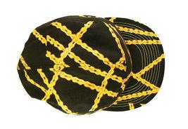 Official Black Bike Chain Gang Bicycle Biking 5 Panel Strapback Camper Hat NWT image 3