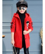 Girls' Coat Long Sleeve Letter Pattern Chic Fashion Design Hooded Outerwear - $42.99