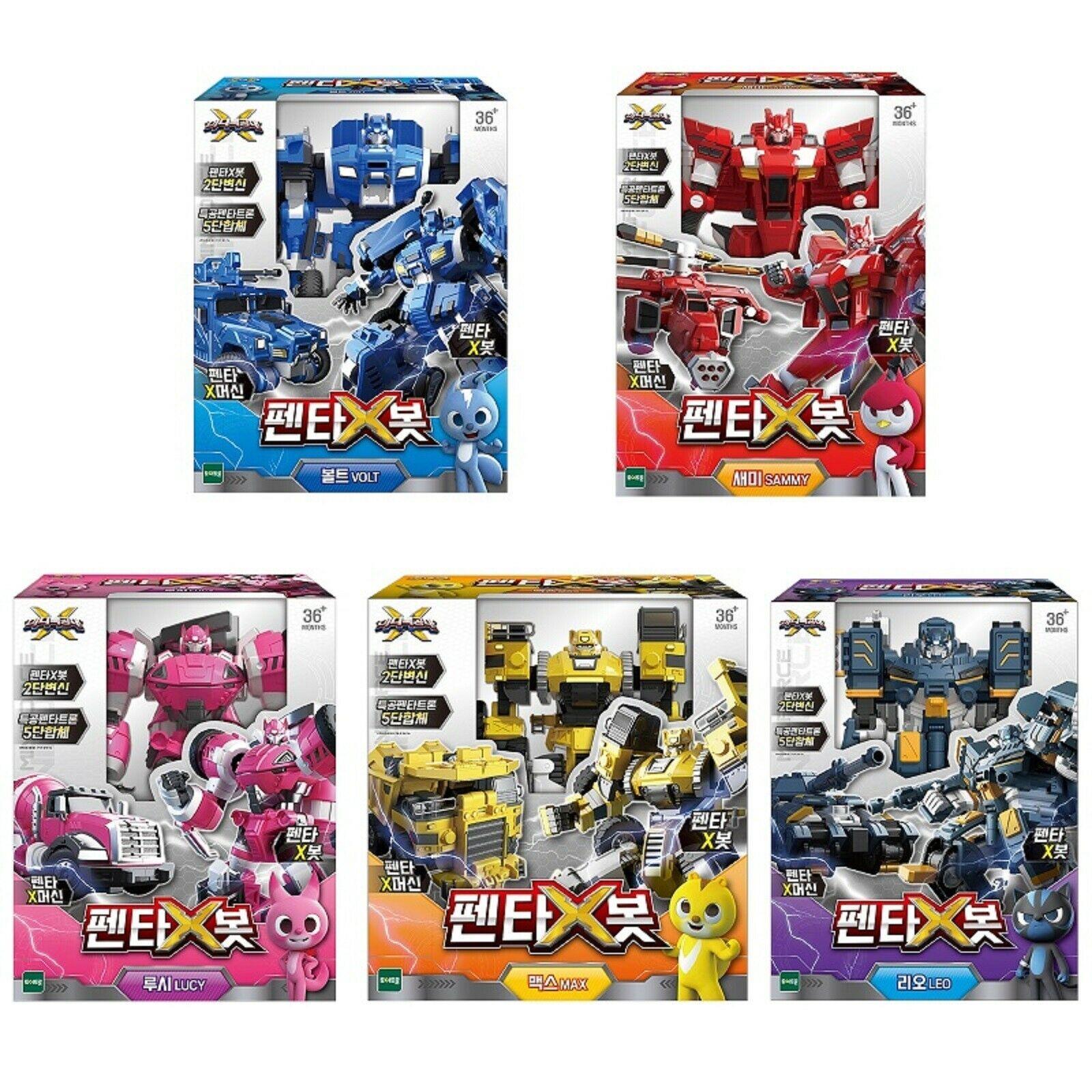 Miniforce X Penta X Bot Volt Sammy Lucy Max Leo Transforming Action Figure Toy