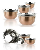 Copper Stainless Steel Mixing Bowl Set - 4 Pieces German Nested Mixing B... - $332,93 MXN