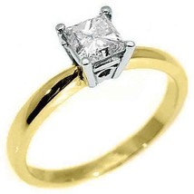 1.35CT WOMENS SOLITAIRE PRINCESS SQUARE CUT DIAMOND ENGAGEMENT RING YELL... - £4,592.51 GBP