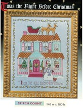 THE NIGHT BEFORE CHRISTMAS  -  CROSS STITCH  PATTERN     H120M2 - $6.39
