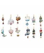Reed & Barton 12 Days Of Christmas Ornament Set Twelve Glass Heirloom Gi... - $1,250.00