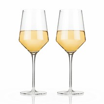 Wine Glasses Wine, Raye Crystal Chardonnay Insulated Clear Wine Glass, S... - $29.99