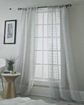 Stratford Park Rod Pocket Curtains 74'' x 84'' 2 Panels Olly Pompom, Grey - $42.99