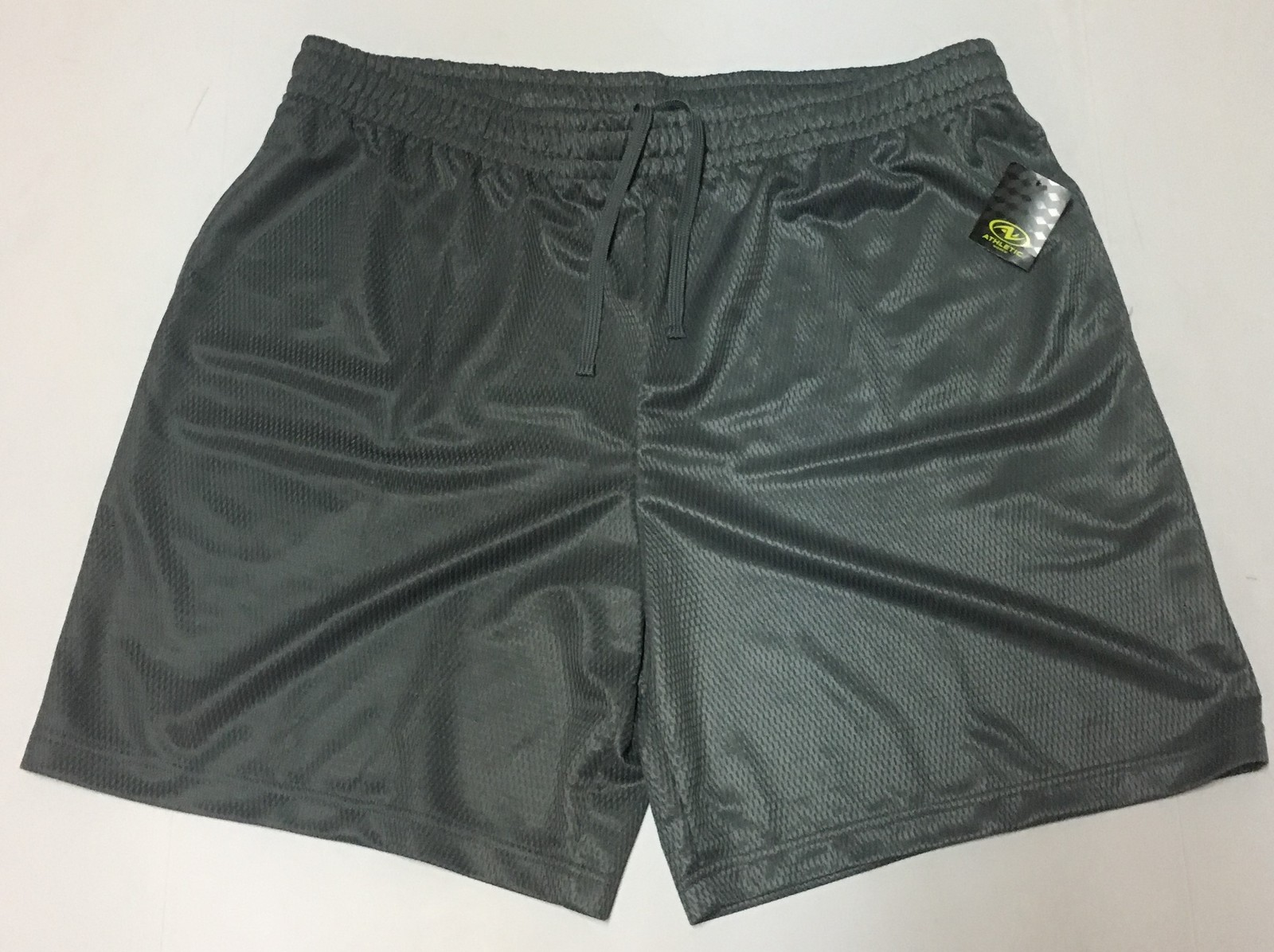 Athletic Works Active Shorts Men's XL (40/42) Gray DriWorks Moisture Wicking NWT