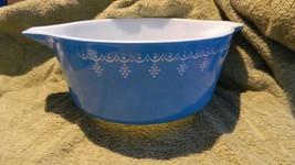 PYREX SNOWFLAKE BLUE CASSEROLE DISH #475-B 2.5 QUART 2.5 LITER FREE USA ... - $37.39