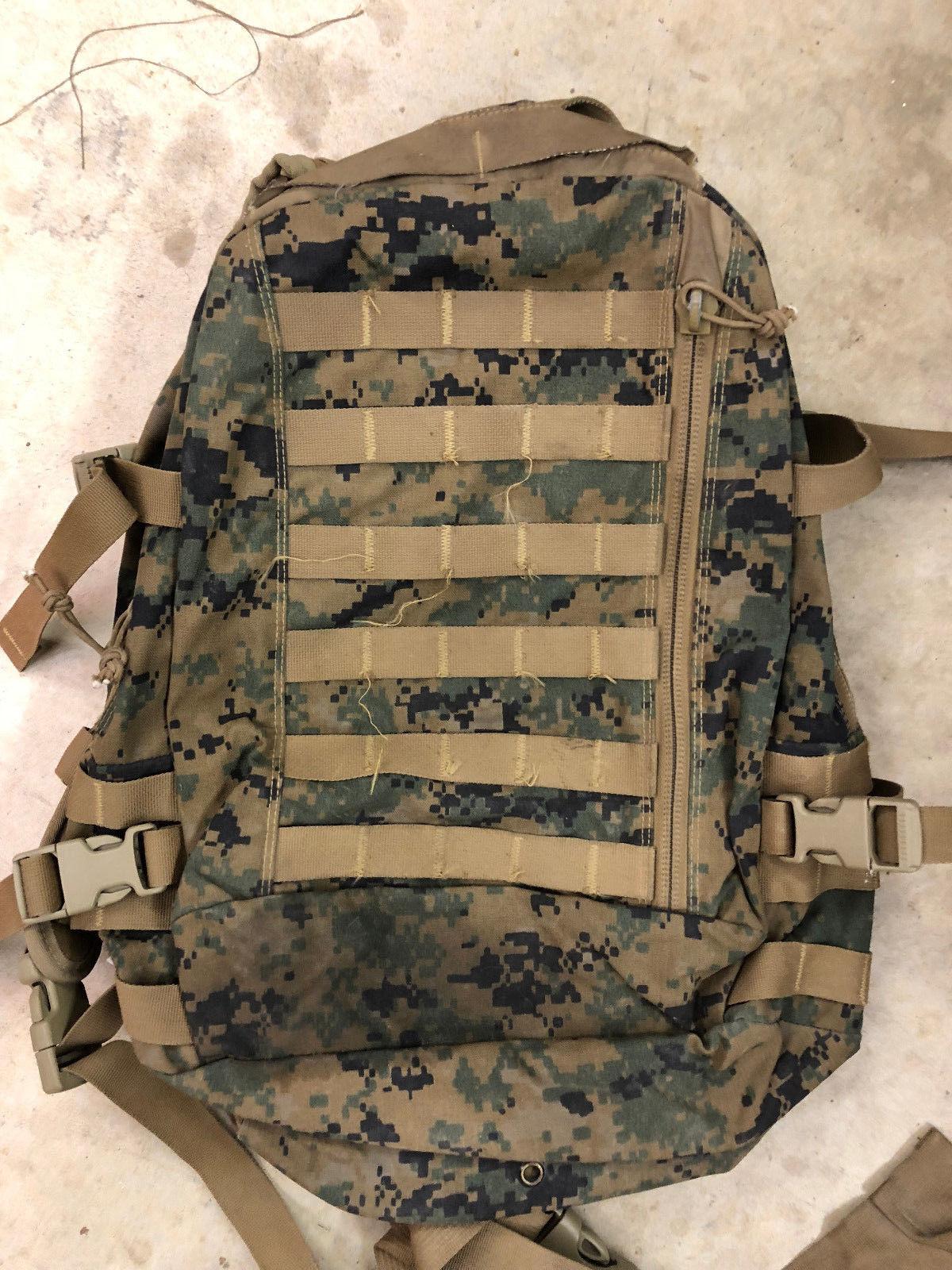 USMC Marine ILBE MARPAT 3 Day Assault Pack MOLLE GEN II - Repaired 31103ff5b4