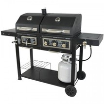 Perfect Gas Grill Dual Fuel Charcoal Ash Tray Shelves Adjustable Stainle... - £203.70 GBP