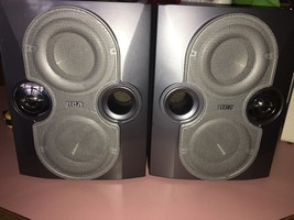 Vintage Lot 2x RCA RS2622 Wooden Bookend  Home Speaker 6 ohm 75 Watt Home Audio - $87.18