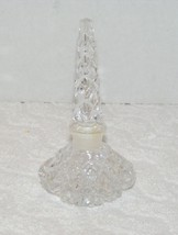 VINTAGE CRYSTAL DEEP DIAMOND CUT PERFUME BOTTLE... - $29.99