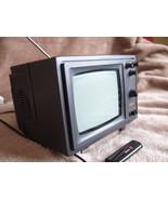 Vintage Soviet USSR Black & White CRT Portable TV Set Silelis 406 Demo E... - $49.49