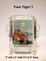 Inside Painted Crystal Vase - Tiger - $129.95