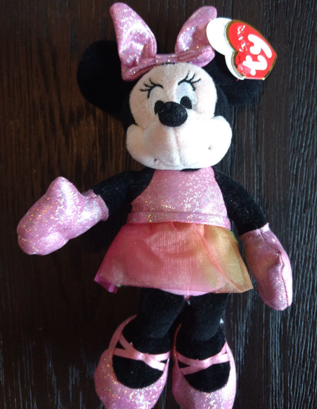 "Ty Disney Minnie Mouse - Ballerina Sparkle  8"" Plush"