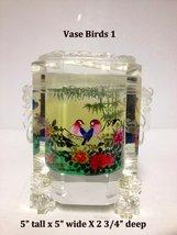Inside Painted Crystal Vase - Birds 1 - $129.95