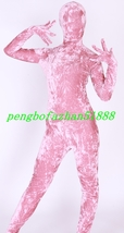 SEXY PINK VELOURS SUIT CATSUIT COSTUMES UNISEX HALLOWEEN FANCY DRESS SUI... - $36.99