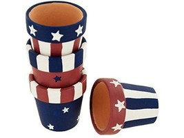 Americana Terra Cotta Napkin Rings Holders Set (set of 12) - $9.79