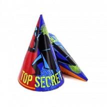 Set of 8 Top Secret Agent Theme Party Hats - $4.99