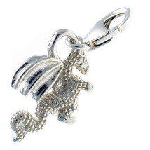 Sterling 925 Solid Silver British Charm Dragon Clip On by Welded Bliss - $19.97