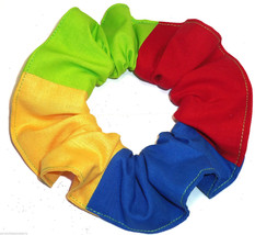 Hair Scrunchie Red Blue Yellow Green Tie Ponytail Holder Scrunchies by S... - $7.99