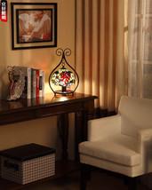 Tiffany Desk Table Lamp Grape Vine Bedroom Light Mediterranean Lighting Fixture - $115.93