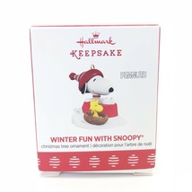 Hallmark Ornament Winter Fun With Snoopy Peanuts Mini Woodstock 2017 - $19.12
