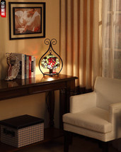 Tiffany Floor Lamp Baroque Bedroom Light Home Mediterranean Lighting Fix... - $285.24