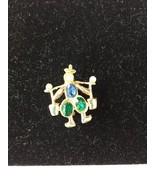 Pin Oriental Figure Man Vintage Gold Tone Rhine... - $25.69