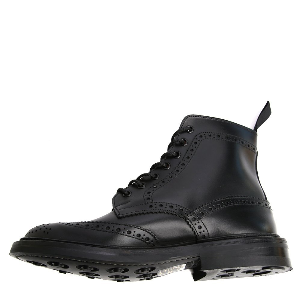 Tricker's Men's Stow Leather Brogue Boots 5634 Black Calf, UK 8.5 / US 9