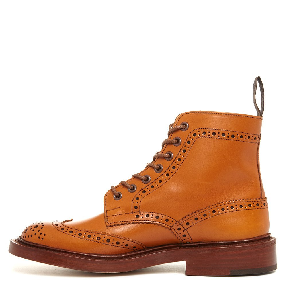 Tricker's Men's Stow Leather Brogue Boots 5634/2 Acorn Antique, UK 8 / US 8.5