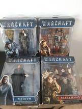 "Lot of 4 Warcraft Action Figure Jakks Durotan Blackhand Medivh Lothar 6""... - $34.60"