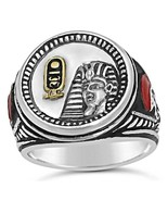 Tuthmosis III  Sterling Silver coin ring 10k ca... - $135.00