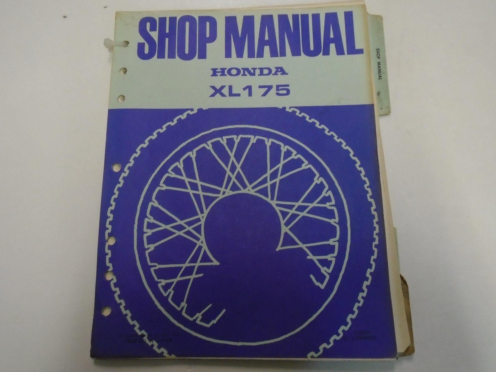 1974 Honda XL175 XL 175 Service Shop Repair Manual FACTORY OEM Book Used ***