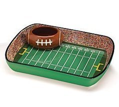 Serving Bowl Football Stadium Chip And Dip Sports Set Burton 9709613 12.5 - £31.30 GBP