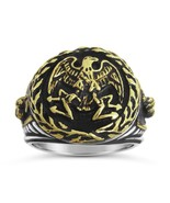 Imperial Roman Eagle mens signet ring    Sterli... - $91.00