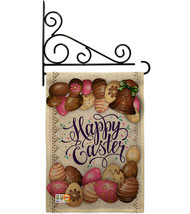 Sweet Chocolate Easter Burlap - Impressions Decorative Metal Fansy Wall Bracket  - $33.97