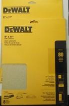 "Dewalt DWAS911080 9"" x 11"" Sandpaper 80 Grit 2 - 8 Packs - $4.95"