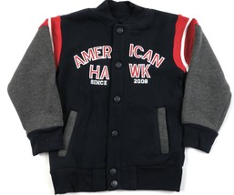 American Hawk Toddler Boy's Varsity Jacket Snap-down Color Block Fleece