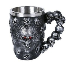Spirit Skull Ossuary Style Mug Tankard 13oz - $19.79