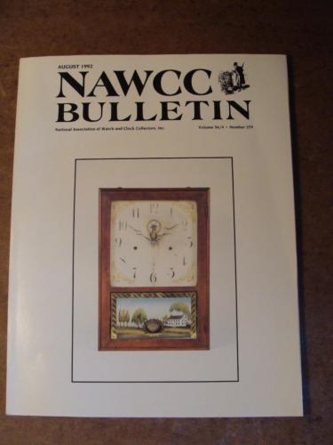 NAWCC Bulletin #279 August 1992 Breguet Mainsprings Rochelle Clock Co Street