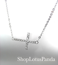 INSPIRATIONAL 18kt White Gold Plated CZ Crystal... - $15.99