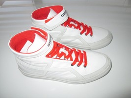 Diesel Route Cow Leather High-Top Sneakers Men' Shoes White 8M KE8C2  - $64.00
