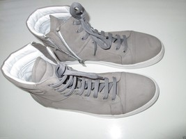 Kenneth Cole Black Label High-Tops Leather Zip Men' Sneakers Gray 11.5M KE95A   - $74.09
