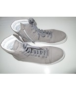 Kenneth Cole Black Label High-Tops Leather Zip Men' Sneakers Gray 11.5M ... - $74.09